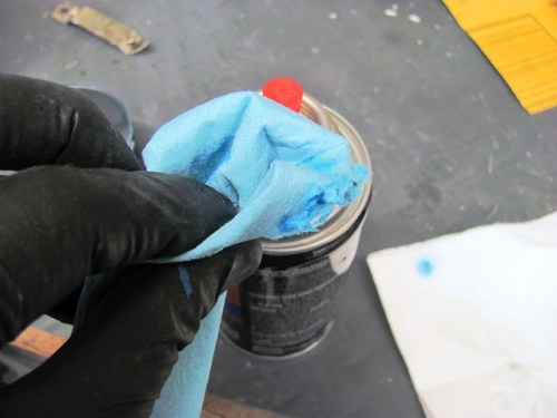 Use Lacquer Thinner to Clean Nozzle Between Coats