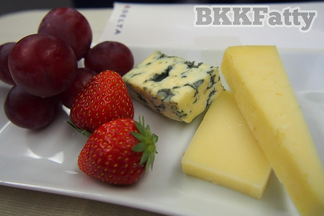 cheese plate with fruit delta business elite