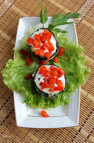 Сезонная закуска из молодых баклажанов и кабачков, рецепт с фото, овощная закуска
