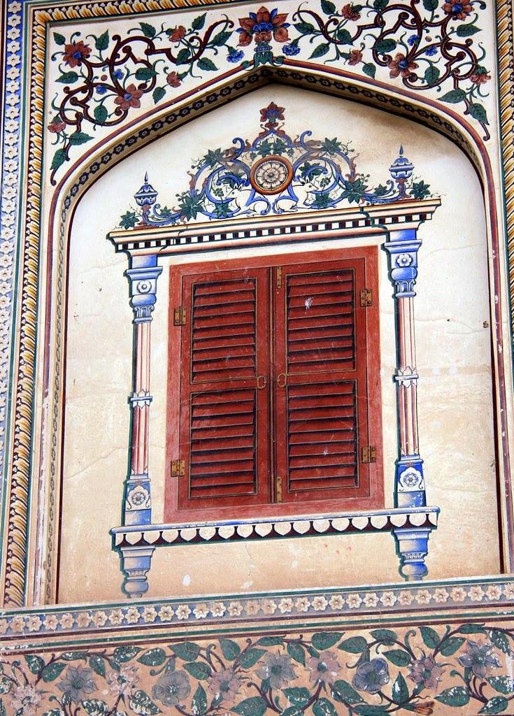 frescoes at city palace jaipur