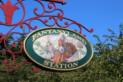 Fantasyland station sign