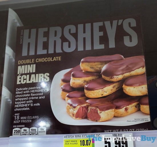 Hershey's Double Chocolate Mini Eclairs