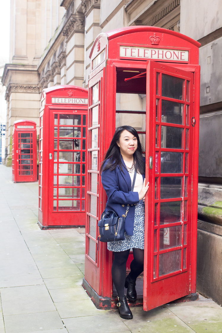 Red Telephone Box Birmingham Outfit
