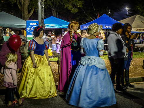 Disney Princesses at Furman Homecoming