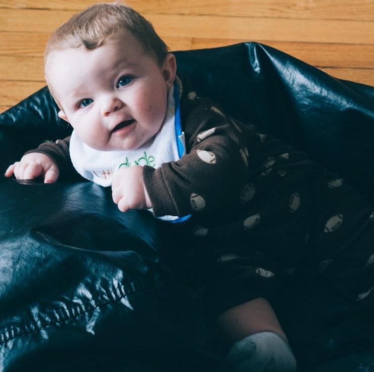 Ezra in the Bean Bag