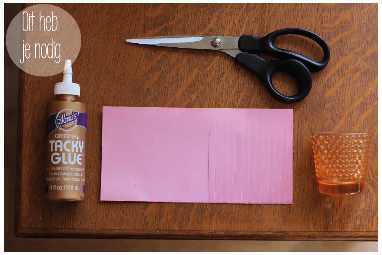 Benodigdheden papieren lantaarn DIY