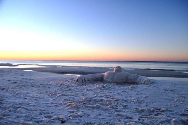 Sunrise Sadman - On Beach in Front of Westwinds at Sandestin Golf and Beach Resort, Florida, Oct. 25, 2014