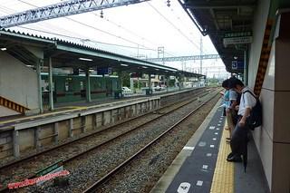 P1060368 Una desconocida estacion al pasarnos de parada (Fukuoka-Dazaifu) 12-07-2010 copia
