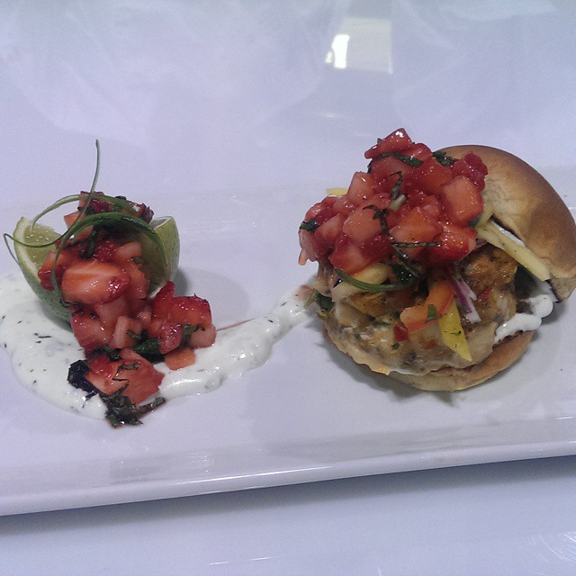 Fred & Ethel Fish Sliders prepared by the  Niagara College team  From @jamestellsjokes @eatstreet cookbook  @TasteCanada  #tcstudents #DFS14