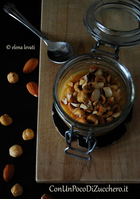 Crunchy Apples and Beer cream in a jar