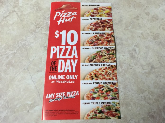 Pizza Hut: $10 Pizza of the Day (Any Size)