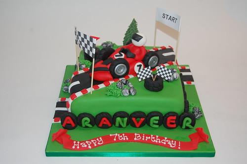 Red Go Karting Cake Beautiful Birthday Cakes