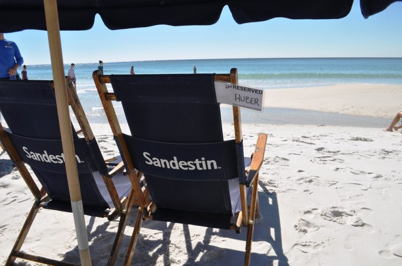 Reserved Beach Chairs at Sandestin Golf and Beach Resort, Florida, Oct. 25, 2014