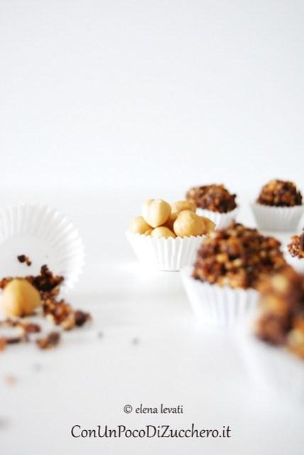 Nougatine and hazelnuts