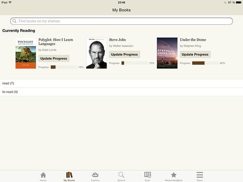 приложение Goodreads для iPhone и iPad