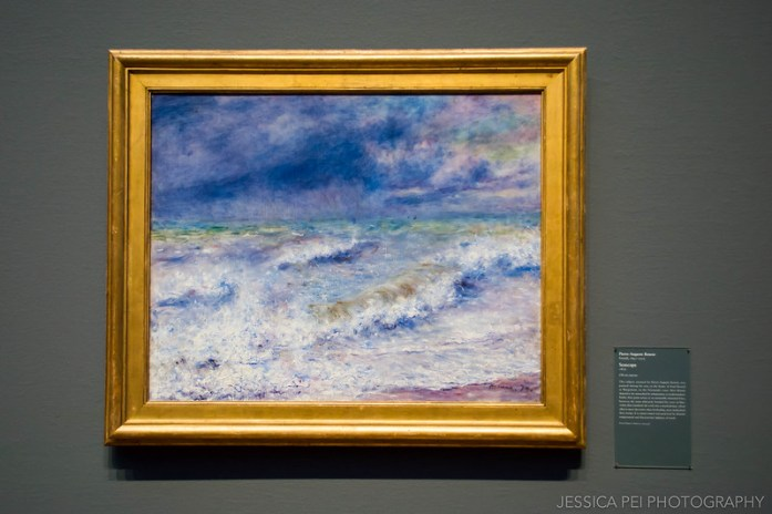 Seascape by Pierre-August Renoir Painting in Art Institute of Chicago