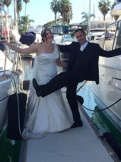 Mr and Mrs goofing around