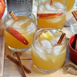 Spiced Coconut Rum & Apple Cider Cocktail