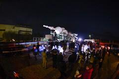 Soyuz spacecraft rollout