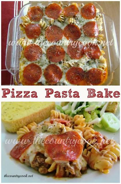 pizza pasta bake
