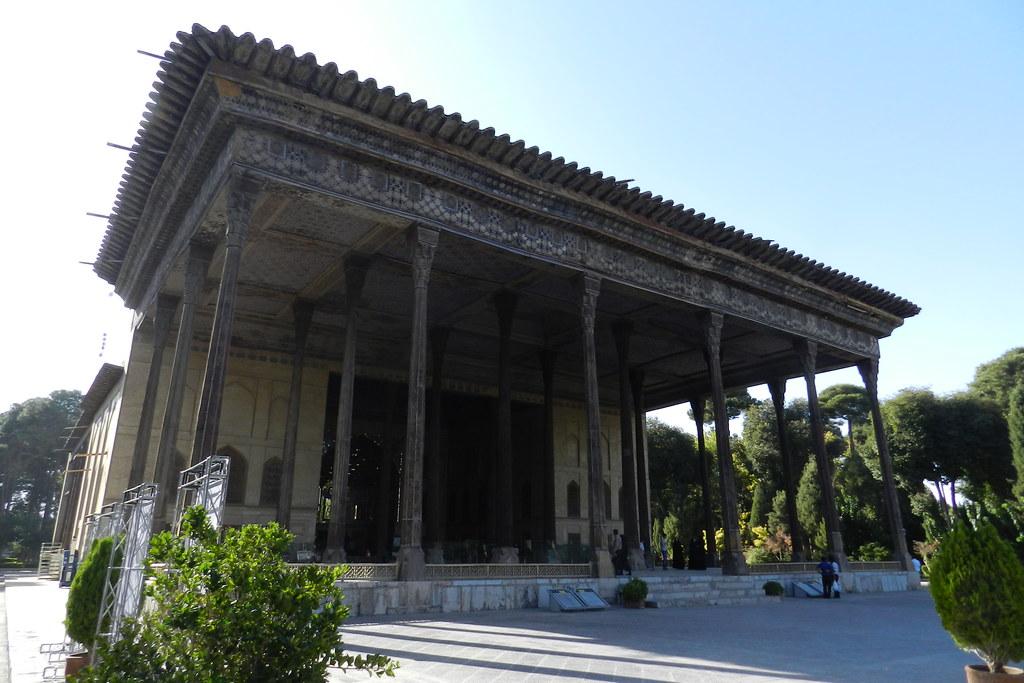 Palacio Chehel Sotoon Isfahán Irán 04