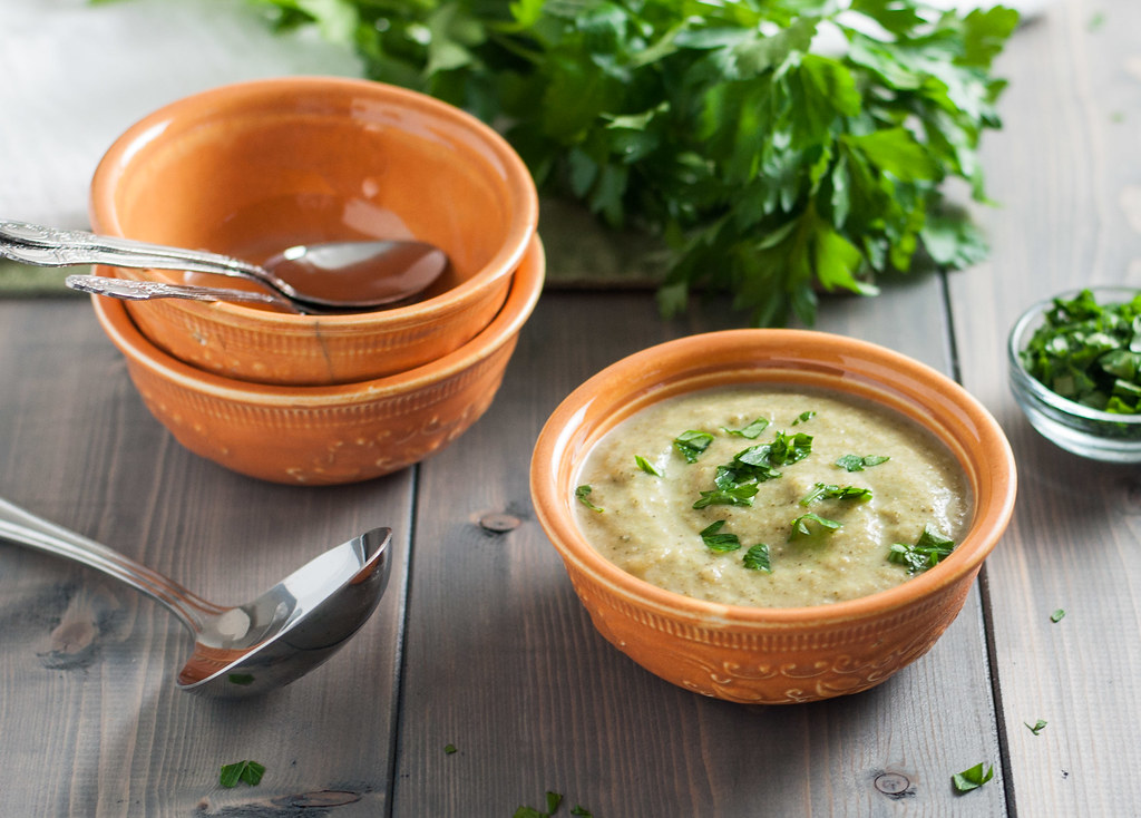 Soup with parsley