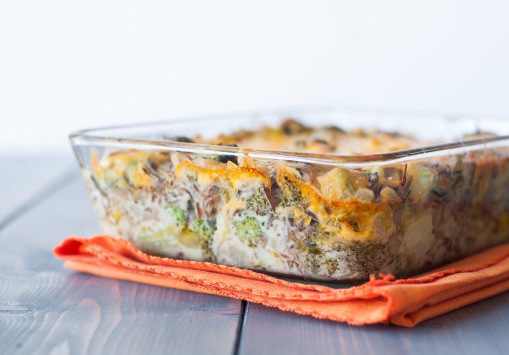 Broccoli Cheddar Wild Rice Bake | recipe at Natural Comfort Kitchen