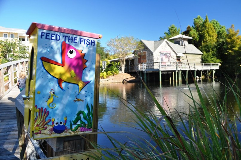 I's Okay to Feed the Fish. The Village at Baytowne Wharf - Sandestin Golf and Beach Resort, Florida, Oct. 25, 2014