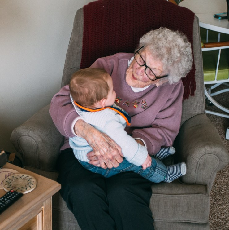Ezra and Great-Grandma