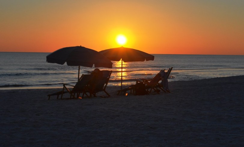 Sunset at the Sandestin Golf and Beach Resort, Florida, Oct. 2014