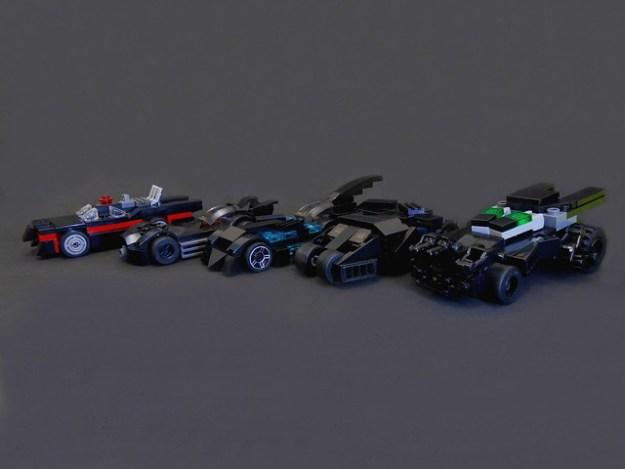 Batmobiles. lining up. mini size