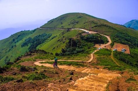 Mullayanagiri steps - From the highest peak of Karnataka