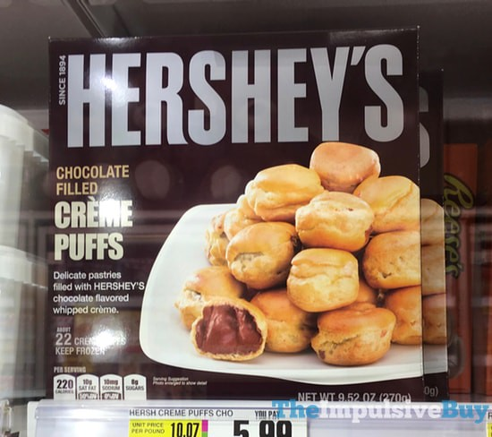 Hershey's Chocolate Filled Creme Puffs