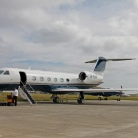 Gulfstream G450 M-SOBR at Isle of Man EGNS 08/0914
