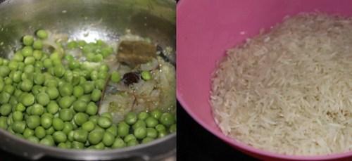 Peas Pulao step3