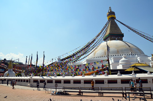 The Boudhanath Stupa in Nepal was affected in Saturday's earthquake. This photo is from 2014.