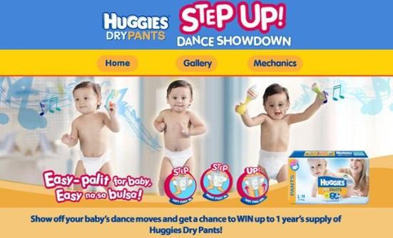 huggies dry pants step up dance showdown