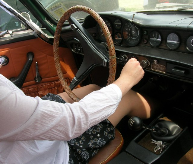 My Wife Cranking And Pedal Pumping In Our Old Volvo