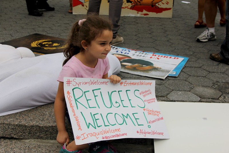 NYC Solidarity Rally with Syrian Refugees