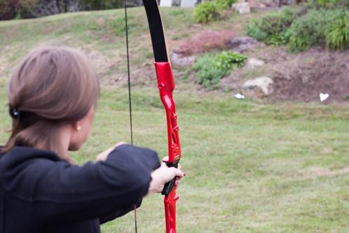 Archery Shooting Arrow Girl Target