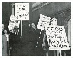 Boycott Browne school: 1947
