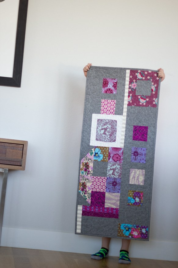 Plum-ish improv table runner