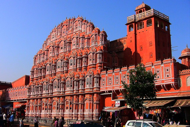 INDIEN, Jaipur , Palast der Winde (Hawa Mahal), 13220/6028