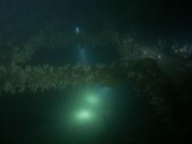 Dave & Callum inside the wreck