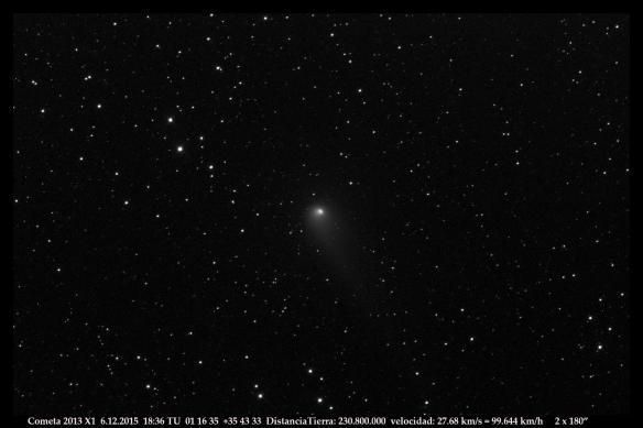 Cometa 2013 X1  6 12 2015  2x 180