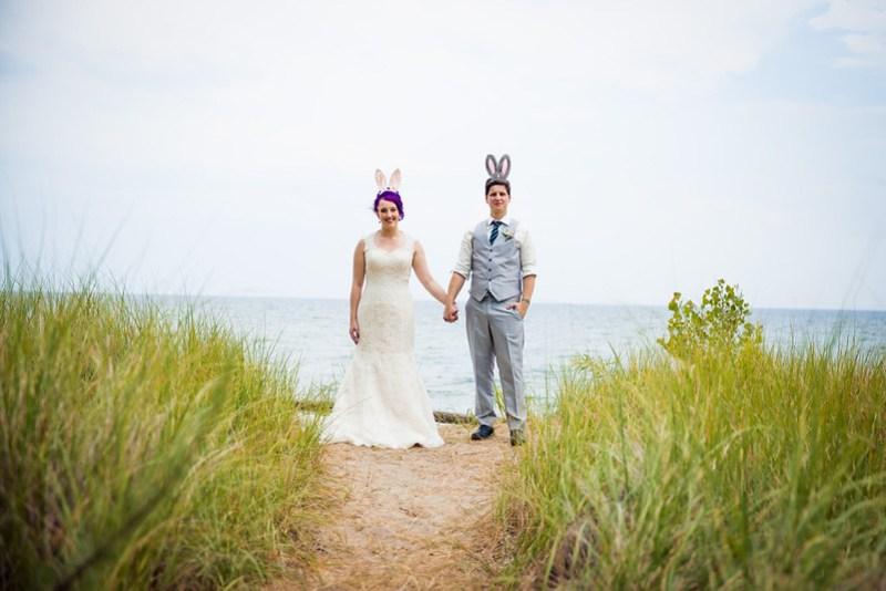 a swing dance wedding on an island with a bitcoin unity