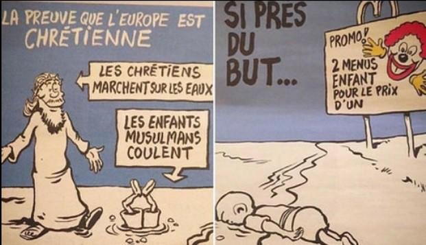 Polémico número de 'Charlie Hebdo' sobre crisis de refugiados