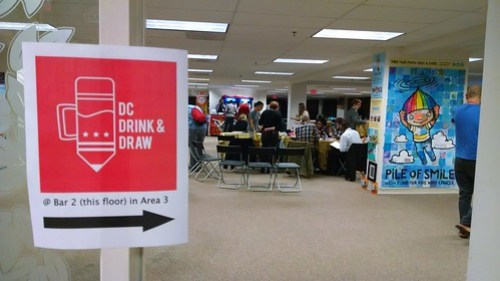 The DC Drink and Draw Event at Artomatic
