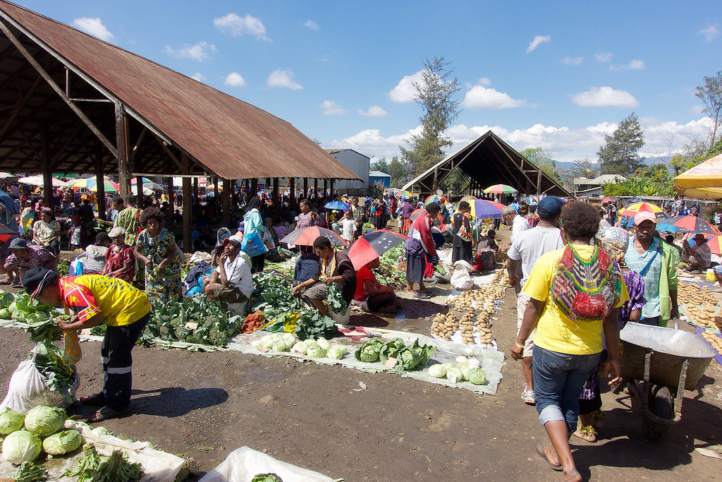 The local market.