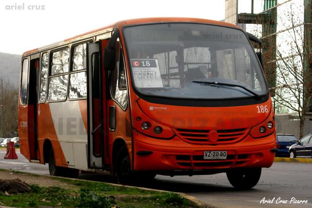Transantiago - Redbus Urbano - Neobus Thunder / Mercedes Benz (VZ2090) (186)